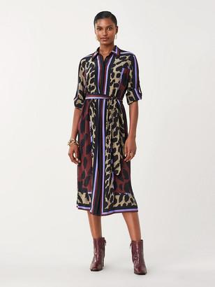 Diane von Furstenberg Sogol Silk Crepe de Chine Shirt Dress
