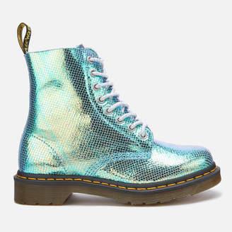 Dr. Martens Women's 1460 Iridescent Pascal 8-Eye Boots - Blue
