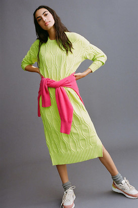 Line & Dot Billie Sweater Maxi Dress By in Green Size S