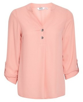 Dorothy Perkins Womens Dp Petite Coral Roll Sleeve Shirt, Coral