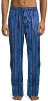 Derek Rose Satin-Stripe Pajama Pants, Blue