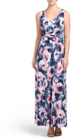 Made In USA Ruched Maxi Dress