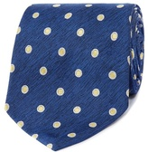 Osborne Navy And Blue Polka Dot Patterned Tie