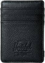 Herschel Raven Leather Credit card Wallet