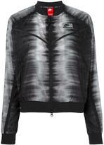 Nike International zig zag bomber jacket