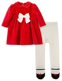 Little Me Girls' Dress and Tights Set - Baby