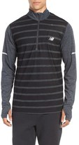 New Balance Men's Athletic Quarter Zip Running Jacket