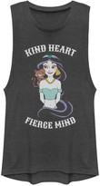 "Disney Juniors' Disney's Aladdin Jasmine ""Kind Heart Fierce Mind"" Graphic Muscle Tank"