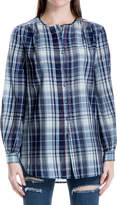 Max Studio Plaid Button-Up Tunic