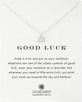 "Dogeared Reminder ""Good Luck"" Sterling Elephant Pendant Necklace, 16"""