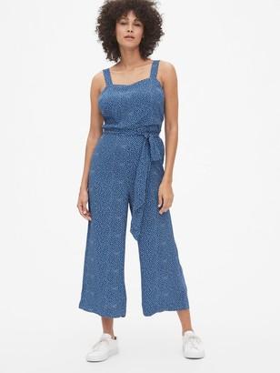 Gap Print Apron Wide-Leg Jumpsuit
