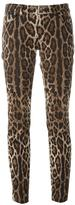 Dolce & Gabbana leopard print trousers - women - Cotton/Spandex/Elastane - 38