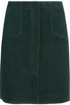 MiH Jeans Coda Suede Mini Skirt - Emerald
