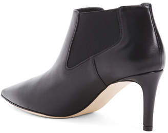 Made In Italy Leather Chelsea Boots With Stiletto Heel