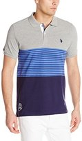 U.S. Polo Assn. Men's Striped Color-Block Polo Shirt