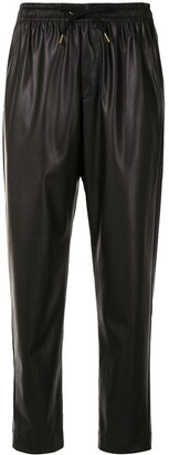 Karen Walker Dahlia faux-leather cropped trousers