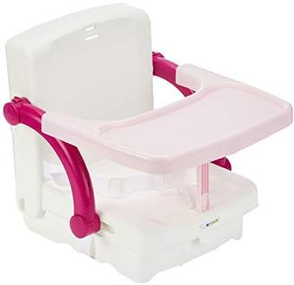 Rotho Babydesign Kidskit Booster Seat, High Seat with Removable Table Top, Adjustable Seat Height, Foldable, Pink, 60003 278