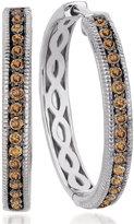 LeVian Le Vian Chocolate Diamond Hoop Earrings (5/8 ct. t.w.) in 14k White Gold