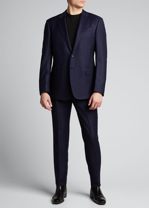 Giorgio Armani Men's Two-Piece Box Plaid Suit