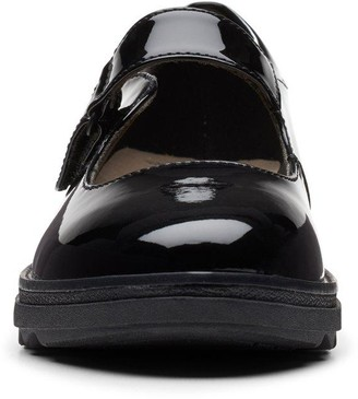Clarks Sharon Shore Low Wedge Shoe - Black