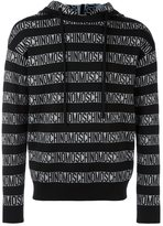 Moschino all-over block logo hoodie