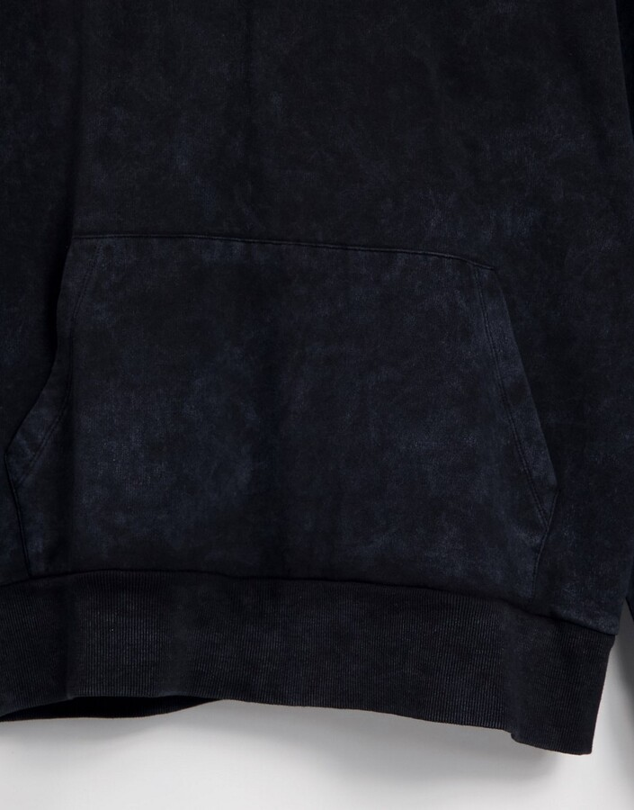 Thumbnail for your product : Collusion Unisex oversized hoodie in charcoal acid wash set