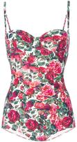 Dolce & Gabbana rose print swimsuit - women - Nylon/Polyamide/Spandex/Elastane - 2