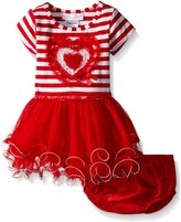 Bonnie Baby Baby Heart Appliqued Tutu Dress