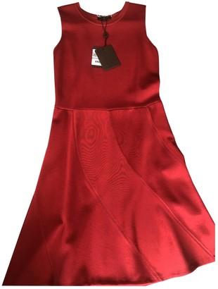 Louis Vuitton Red Cotton - elasthane Dresses