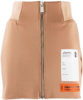 Heron Preston Front Zip Knitted Skirt