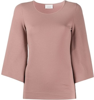 Lemaire Cropped Sleeve Knitted Top