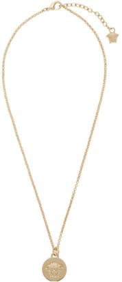 Versace Silver Small Medusa Coin Necklace