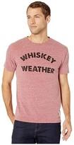 Original Retro Brand The Whiskey Weather Vintage Tri-Blend Tee (Streaky Burgundy) Men's Clothing