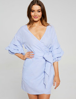 Dotti Triple Trumpet Sleeve Wrap Dress