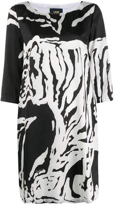 Class Roberto Cavalli Tiger print T-shirt dress
