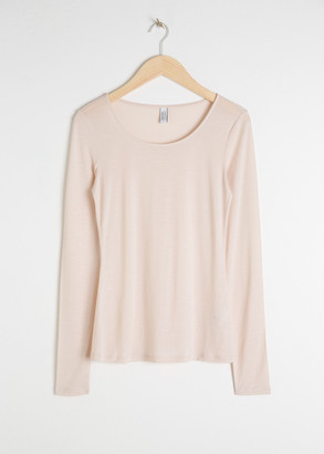 And other stories Scoop Neck Long Sleeve Shirt