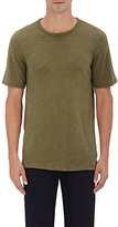 Rag & Bone MEN'S SLUB JERSEY T-SHIRT-DARK GREEN SIZE S