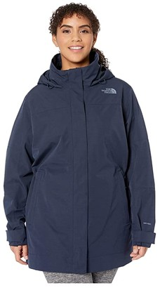 The North Face Plus Size Westoak City Trench (Urban Navy) Women's Clothing
