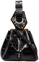 Ganni Small Crocodile-Effect Bracelet Bag