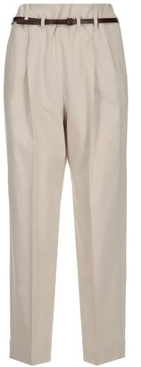 Brunello Cucinelli Belted High Waist Trousers