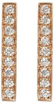 Bony Levy 18K Rose Gold Pave Diamond Bar Earrings - 0.22 ctw