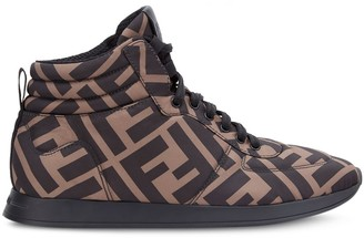 Fendi FF motif high-top sneakers