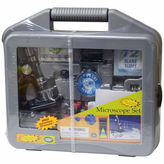 Asstd National Brand Edutoys Microscope Set Wcarrying Case