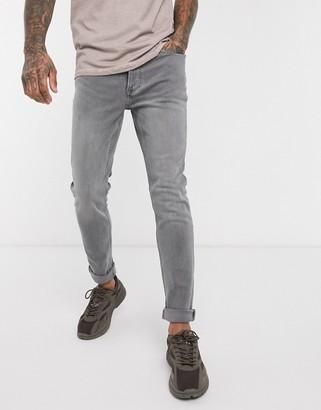 Topman organic skinny jeans in gray