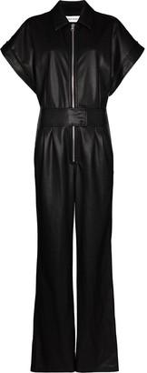 Stand Studio Faux-Leather Zip-Up Jumpsuit