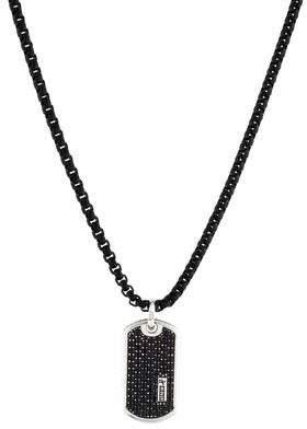 David Yurman Black Diamond Dog Tag Pendant Necklace