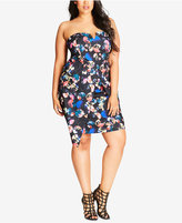 City Chic Trendy Plus Size Strapless Dress