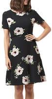 Sugarhill Boutique Ohara Bold Floral Dress, Black