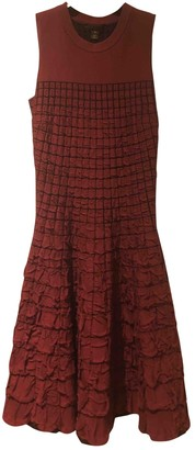 Louis Vuitton Burgundy Polyester Dresses