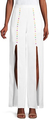 All Things Mochi Gaho Flower Slit Linen Pants